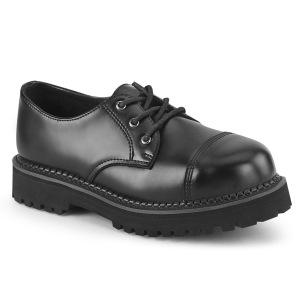 Aitoa nahkaa RIOT-03 demonia punk kengät - unisex teräs kengät