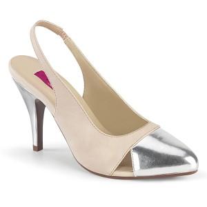 Beige 10 cm DREAM-405 slingback kengät miehellä