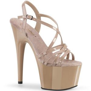 Beige 18 cm ADORE-713 pleaser piikkikorko sandaalit