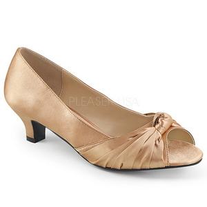 Beige Satiini 5 cm FAB-422 suuret koot avokkaat kengät