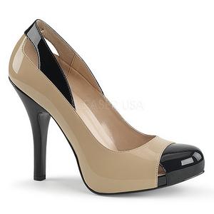 Beiget Kiiltonahka 12,5 cm EVE-07 suuret koot avokkaat kengät