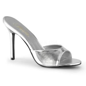 Hopea Keinonahka 10 cm CLASSIQUE-01 suuret koot puukengät naisten