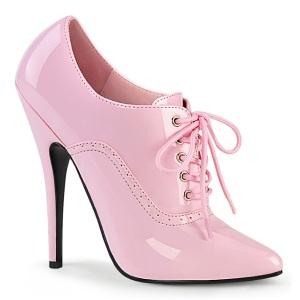 Kiiltonahka 15 cm DOMINA-460 nauha avokkaat kengät oxford pinkit