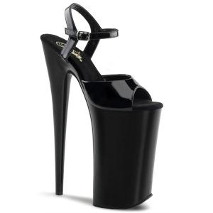 Kiiltonahka 25,5 cm BEYOND-009 platform korkeakorkoiset kengät - todella korkeat korot
