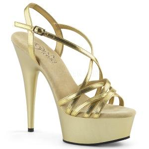 Kulta 15 cm Pleaser DELIGHT-613 Korkeakorkoiset platform sandaletit