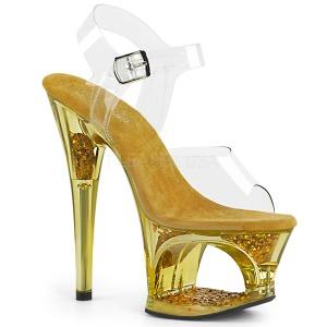 Kulta 18 cm MOON-708GFT kimallus platform sandaalit naisten