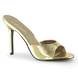 Kulta Keinonahka 10 cm CLASSIQUE-01 suuret koot puukengät naisten