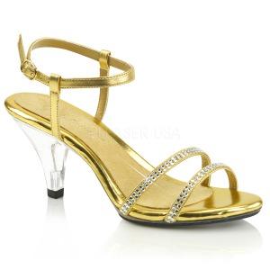 Kulta Kimalle 8 cm BELLE-316 Naisten Sandaletit Korkea