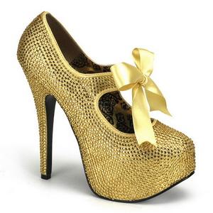 Kulta Kristalli 14,5 cm TEEZE-04R Platform Avokkaat Kengät