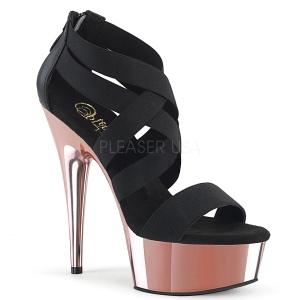 Kulta kromi platform 15 cm DELIGHT-669 korokepohjaiset pleaser kengät