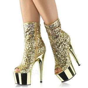 Kultaiset 18 cm ADORE-1008SQ naisten paljetit nilkkurit korkeat korko