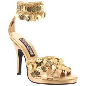 Kultaiset 9,5 cm GYPSY-03 Naisten Sandaletit Korkea