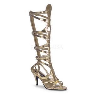 Kultaiset 9 cm GODDESS-12 roman gladiaattorisandaalit naisten