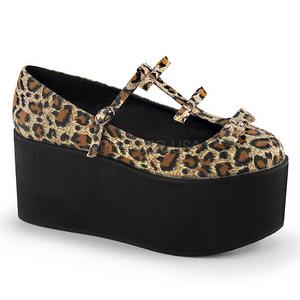 Leopardi kangas 8 cm CLICK-08 lolita kengät gootti platform