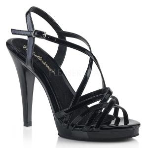 Musta 11,5 cm FLAIR-413 Korkeakorkoiset Fabulicious Kengät