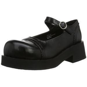 Musta 5 cm CRUX-07 lolita gootti kengät