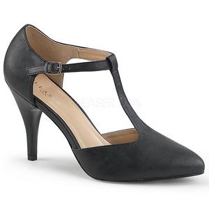 Musta Keinonahka 10 cm DREAM-425 suuret koot avokkaat kengät