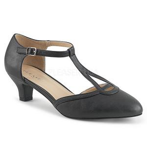 Musta Keinonahka 5 cm FAB-428 suuret koot avokkaat kengät
