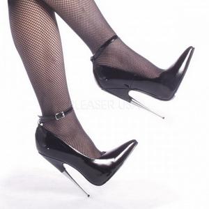 Musta Lakka 15 cm SCREAM-12 Fetish Avokkaat Kengät