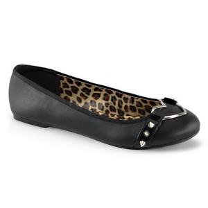 Musta Matta STAR-21 gootti ballerina kengät matalat kengät