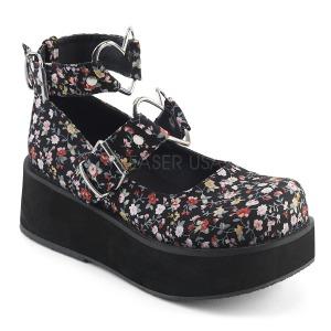 Pellavakankaat 6 cm SPRITE-02 lolita kengät gootti platform kengät paksut pohjat