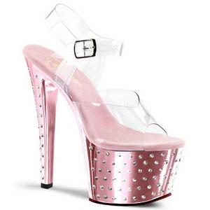 Pinkit 18 cm Pleaser STARDUST-708 Korkosandaalit Kromi Platform