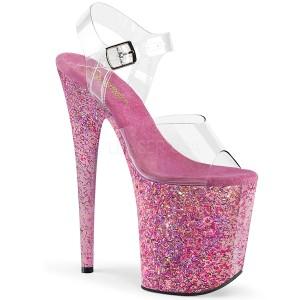 Pinkit kimalle 20 cm FLAMINGO-808CF tankotanssi kengät