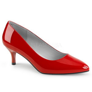 Punainen Kiiltonahka 6,5 cm KITTEN-01 suuret koot avokkaat kengät