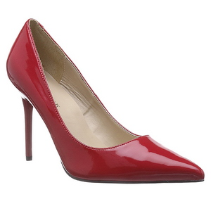 Punainen Lakatut 10 cm CLASSIQUE-20 Avokkaat Kengät Piikkikorko