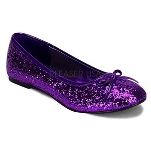 Purppura STAR-16G kimallus ballerina kengät naisten matalat