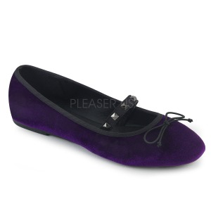 Purppura Sametti DEMONIA DRAC-07 ballerinat matalat kengät