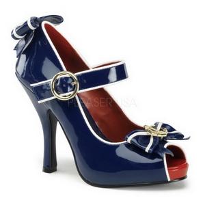 Sininen 11,5 cm ANCHOR-22 naisten kengät korkeat korko