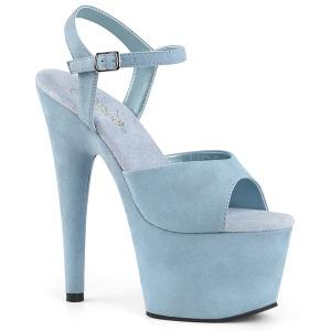 Sininen Keinonahka 18 cm ADORE-709FS naisten korkosandaalit