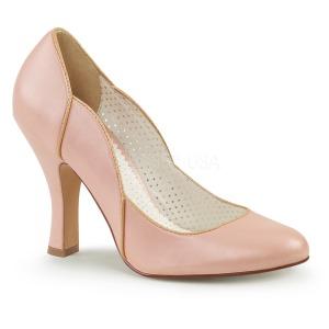 Vaaleanpunainen 10 cm SMITTEN-04 Pinup avokkaat kengät alhainen korot