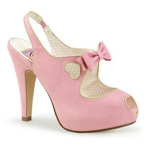 Vaaleanpunainen 11,5 cm BETTIE-03 Pinup avokkaat kengät piilotettu platform