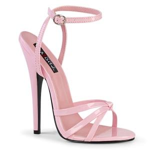 Vaaleanpunainen 15 cm DOMINA-108 fetissi piikkikorko sandaalit