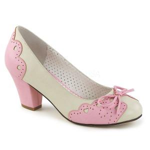Vaaleanpunainen 6,5 cm retro vintage WIGGLE-17 Pinup avokkaat kengät paksu korko