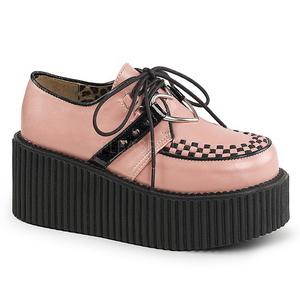 Vaaleanpunainen Keinonahka CREEPER-206 Platform Creepers Kengät Naisten