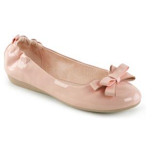 Vaaleanpunainen OLIVE-03 ballerinat matalat kengät joissa solmuke
