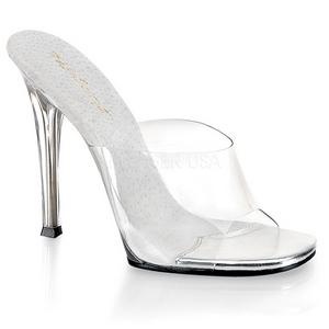 Valkoinen 11,5 cm FABULICIOUS GALA-01 naisten puukengät matalat