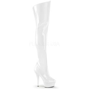 Valkoinen 15 cm KISS-3010 korokepohja pitkät saappaat