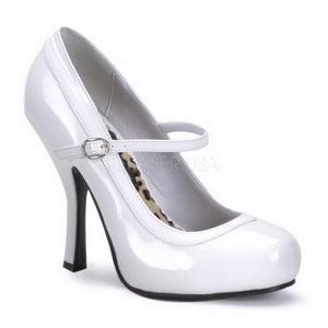 Valkoinen Lakatut 12 cm rockabilly PRETTY-50 Naisten kengät avokkaat