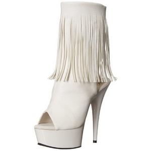 Valkoinen Matta 15 cm DELIGHT-1019 naisten hapsuilla nilkkurit korkeat korko