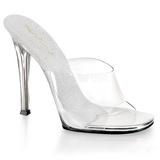 Valkoiset 11,5 cm FABULICIOUS GALA-01 naisten puukengät matalat