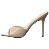 Beige 10 cm CLASSIQUE-01 naisten puukengät matalat