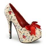 Beige 14,5 cm TEEZE-12-3 naisten kengät korkeat korko