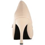 Beige Keinonahka 11,5 cm PINUP-01 suuret koot avokkaat kengät