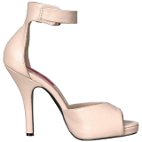 Beige Keinonahka 12,5 cm EVE-02 suuret koot sandaalit naisten