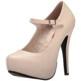 Beige Keinonahka 13,5 cm CHLOE-02 suuret koot avokkaat kengät