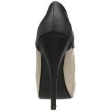 Beige Keinonahka 13,5 cm CHLOE-11 suuret koot avokkaat kengät